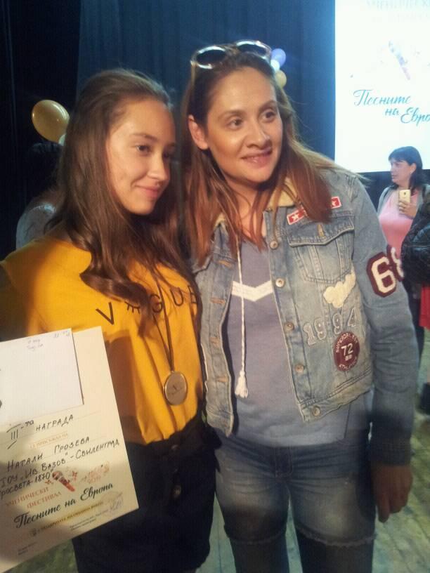 """Трета награда за Натали Грозева от """"Песните на Европа"""""""