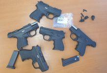 Пет контрабандни пистолета задържаха на Капитан Андреево