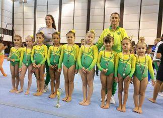 Отборът ни по спортна гимнастика се класира на шесто място в многобоя във възрастовата група 5-7 години.